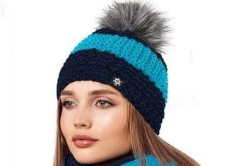 Ciepła damska czapka na zimę