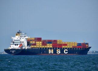 statek transport morski